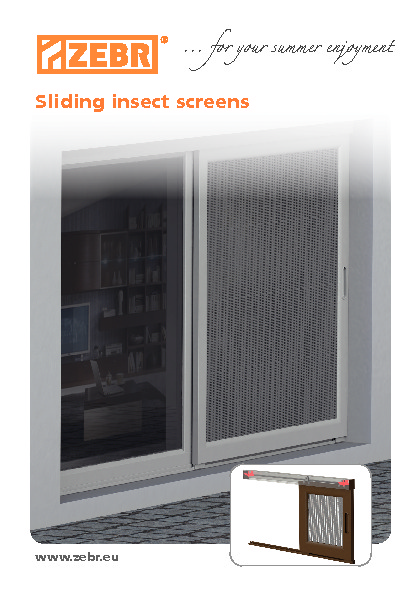 Sliding insect screen