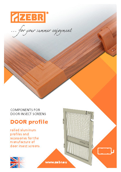 Components for door insect screens DOOR