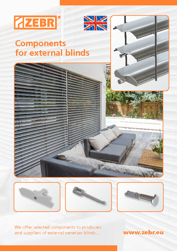 Components for extrenal blinds