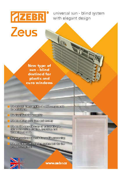 Components for interior blinds Zeus